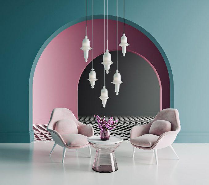 Чешские люстры из стекла в современном интерьере