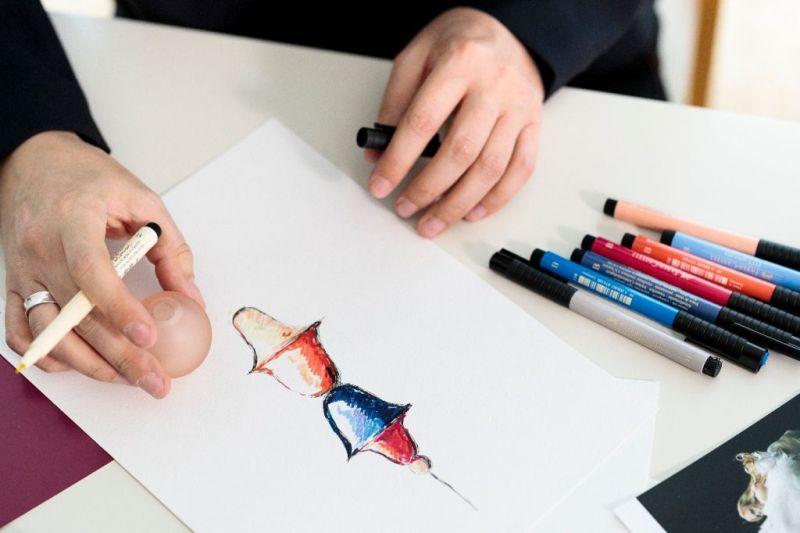 Создание дизайна люстр из чешского цветного стекла