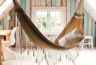 Идеи дизайна подвесного гамака для дома