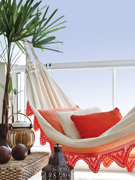 Подвесной гамак-кровать в мексиканском стиле для дома
