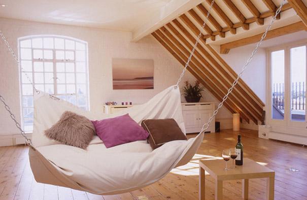 Подвесной гамак-кровать для дома