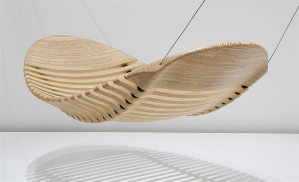 Подвесной дизайнерский гамак из дерева для дома
