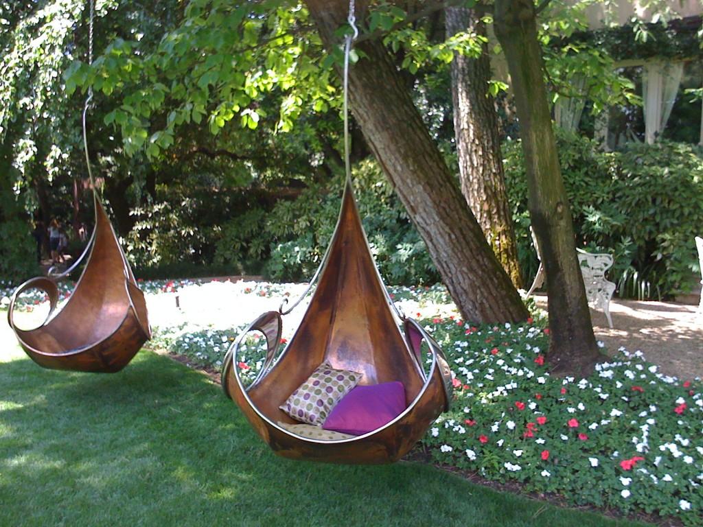 Подвесное уличное кресло-гамак для загородного дома