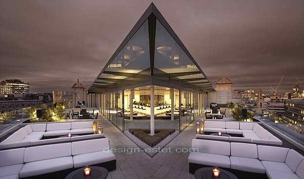 Дизайн интерьеров и экстерьера роскошного отеля ME London