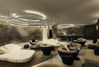 Дизайн интерьера лаунж зоны роскошного отеля ME London