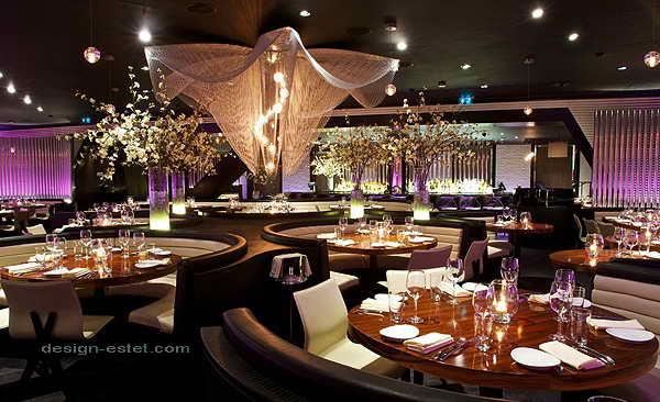 Дизайн интерьера ресторана роскошного отеля ME London