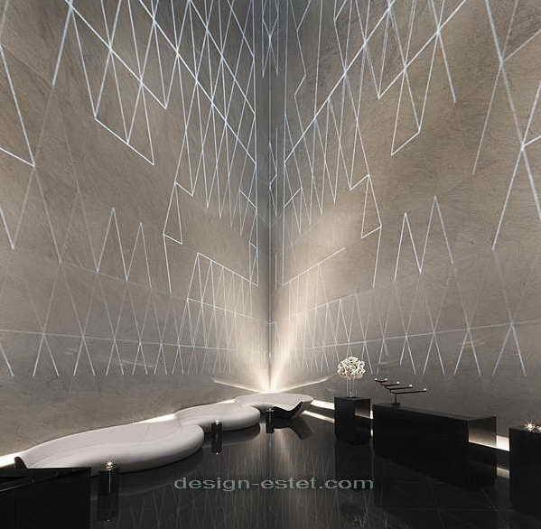Дизайн интерьера холла роскошного отеля ME London
