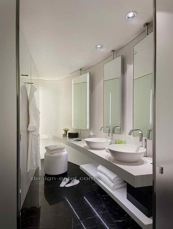 Фото дизайна ванной комнаты в номере роскошного отеля ME London