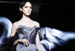 Коллекция платьев от Ульяны Сергеенко - фасоны с драпировками 2014 года