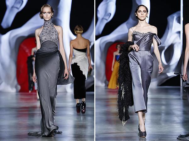 Коллекция платьев от Ульяны Сергеенко - серые тона 2014 года