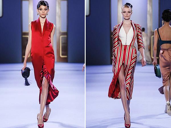 Коллекция платьев от Ульяны Сергеенко - фасоны в красных тонах