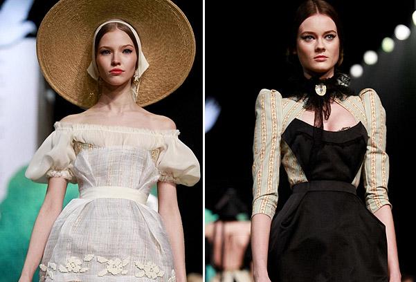 Коллекция платьев от Ульяны Сергеенко - фасоны с глубоким декольте
