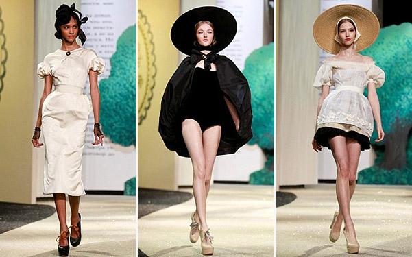 Коллекция платьев от Ульяны Сергеенко - модели в белом и черном тоне