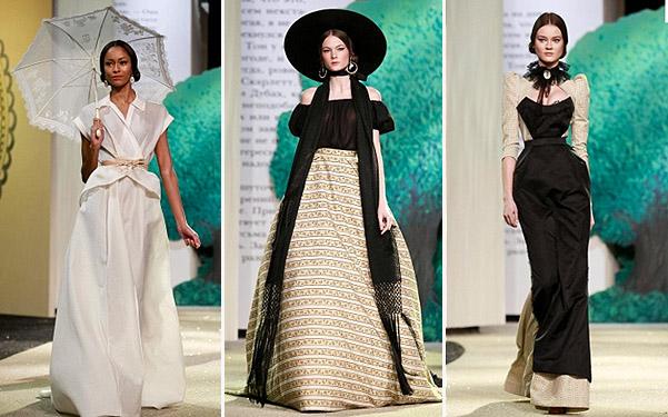 Коллекция платьев от Ульяны Сергеенко - модели в молочно-черном цвете