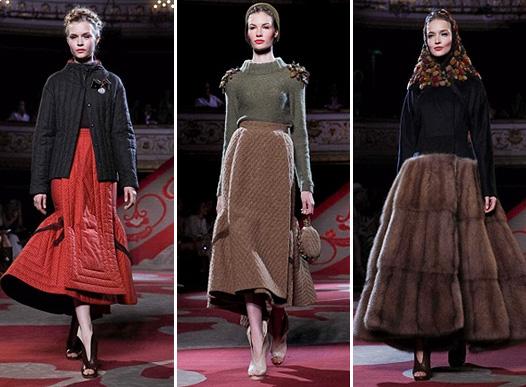 Коллекция платьев от Ульяны Сергеенко - фасоны в ретро стиле
