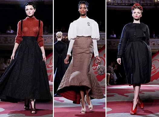 Коллекция платьев от Ульяны Сергеенко в бордово-черных тонах