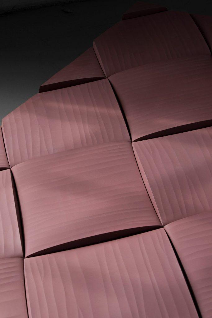 3d эффект в дизайне цветной декоративной плитки из бетона