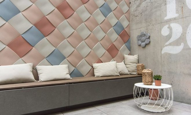 Декоративная бетонная плитка с 3d эффектом для стен