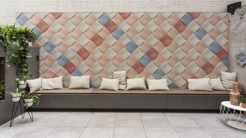 Цветная бетонная плитка для стен - рельефное декоративное покрытие с 3д-эффектом