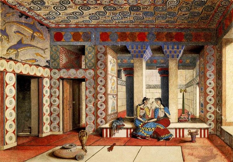 Реконструкция интерьера Кносского дворца на Крите