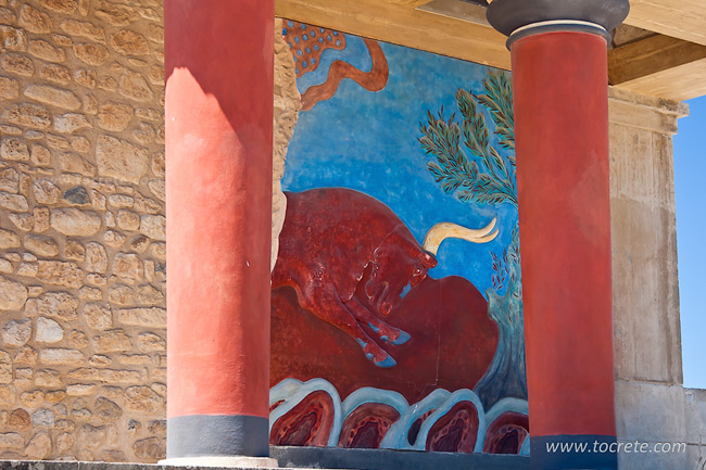 Живопись Кносского дворца на Крите