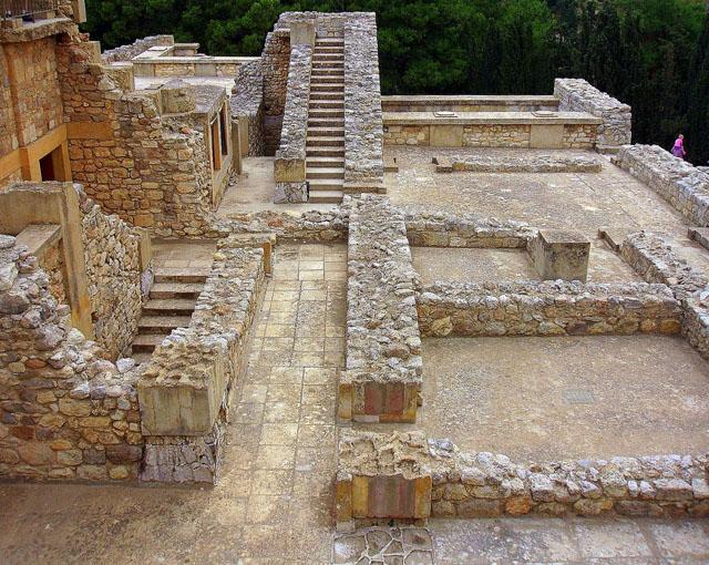 Лестницы Кносского дворца на Крите