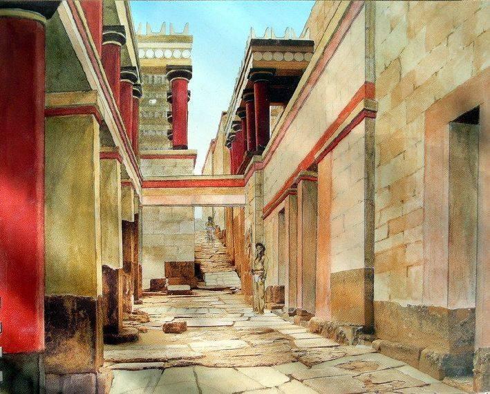 Шедевр эгейского искусства - Кносский дворец на Крите