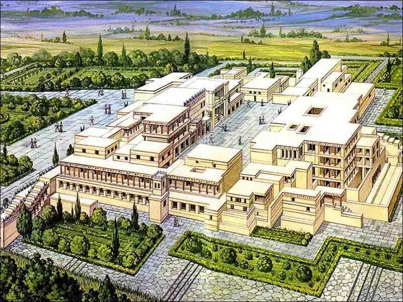 Реконструкция планировки Кносского дворца на Крите