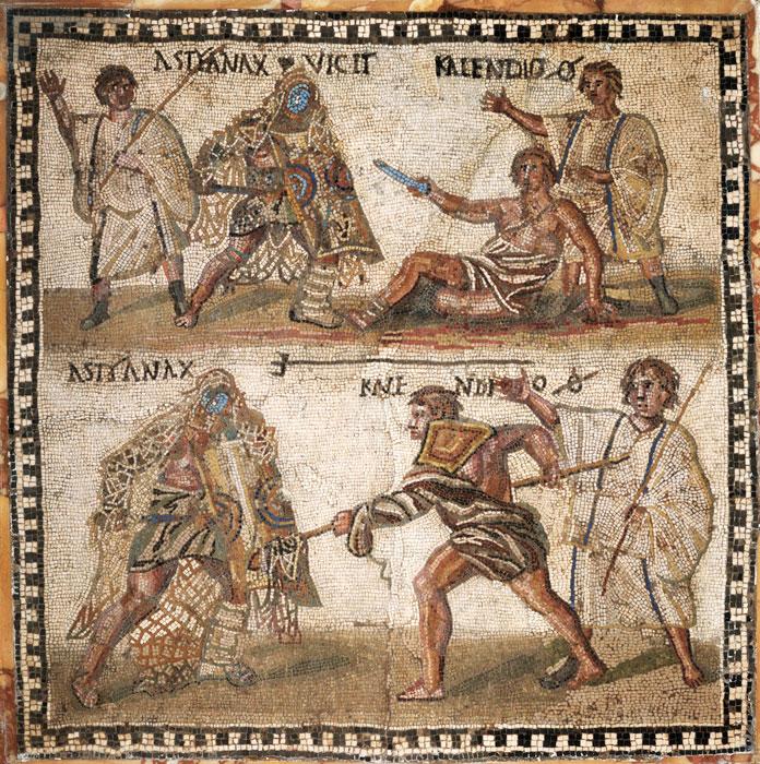 Бои гладиаторов в Древнеримском Колизее