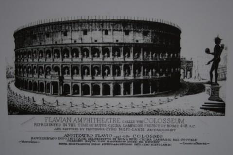 Литография - Колизей в Древнем Риме