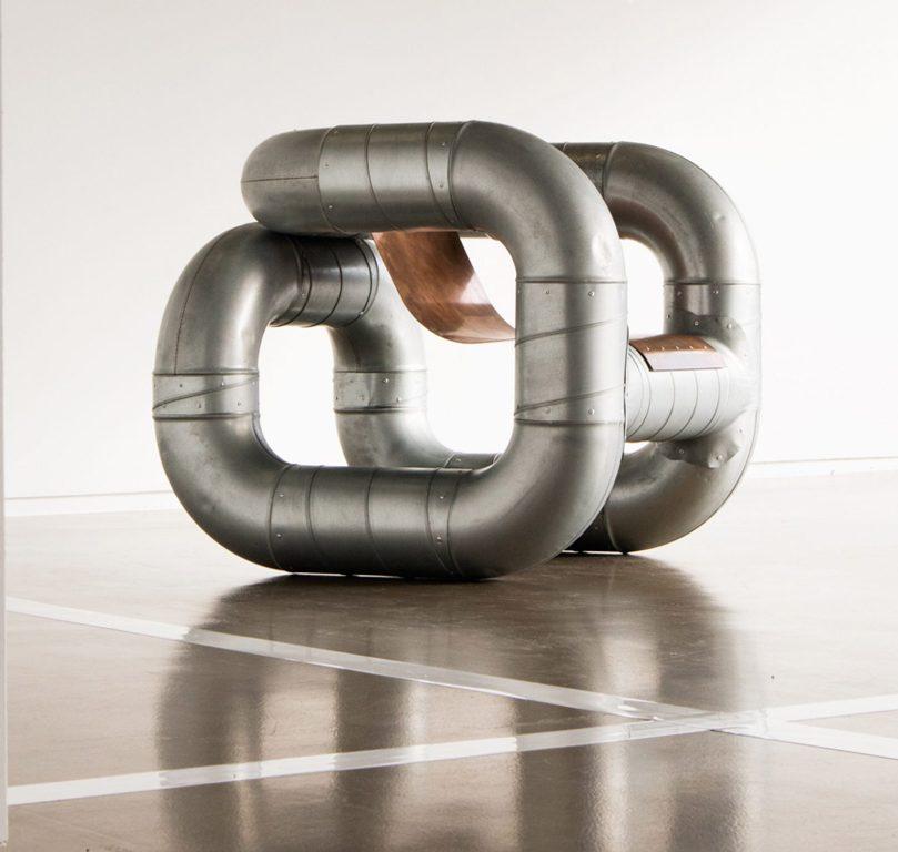 Конструкция мебели в стиле стимпанк - дизайнерское кресло Tubular