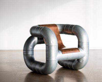 Мебель в стиле стимпанк - металлическое кресло из вентиляционных труб