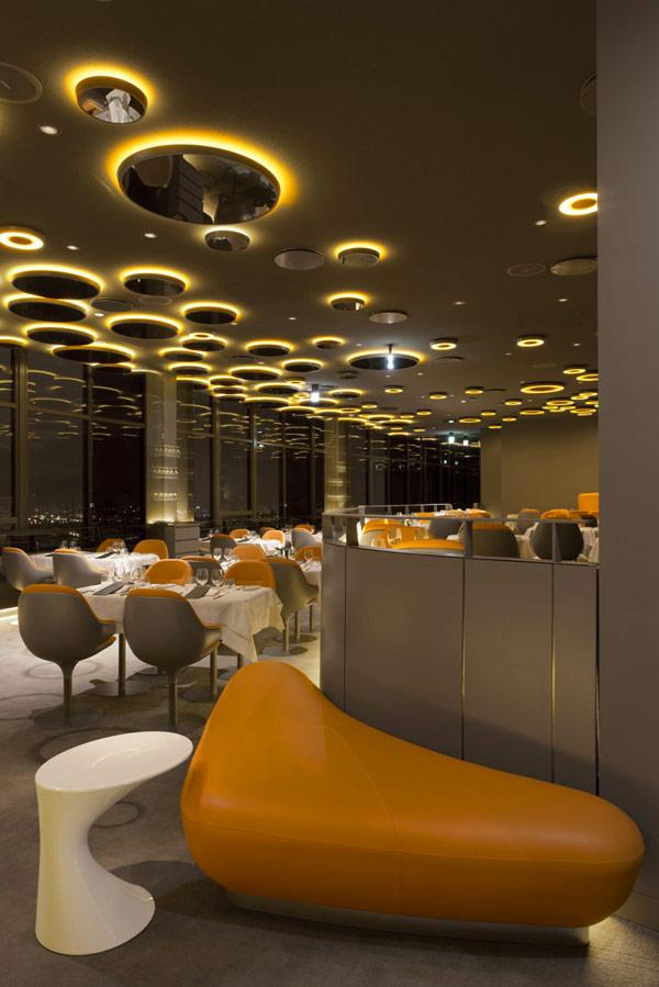 Современный стиль в дизайне ресторана в Париже