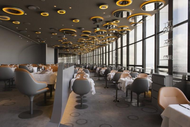 Дизайн парижского ресторана в современном стиле