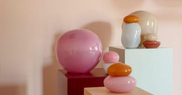Дизайнерские подвесные светильники и настольные лампы из цветного стекла