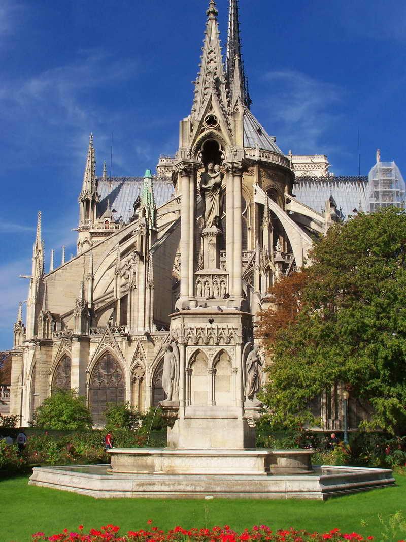 Контрфорсы и аркбутаны в архитектуре собора Парижской Богоматери