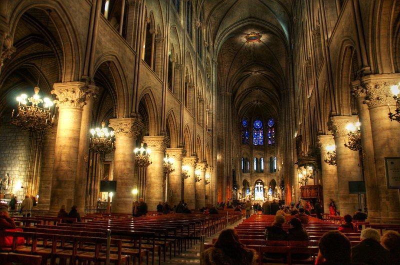 Кафедральный собор Нотр Дам де Пари внутри
