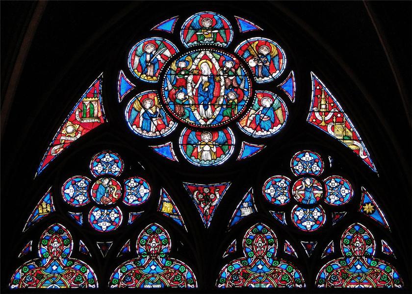 Витражные окна собора Парижской Богоматери