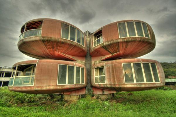 Самые необычные здания мира - дом НЛО на Тайване