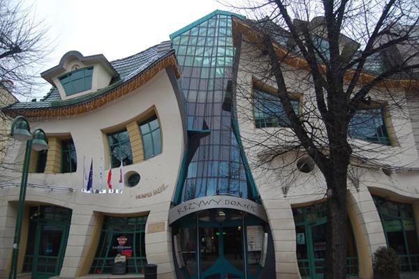 Самые необычные здания мира - кривой дом в сопоте