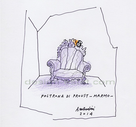 Эскизы кресла Пруст от Алессандро Мендини